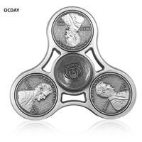 OCDAY Fidget Spinner Metal EDC Fingertip Gyroscope For Autism And ADHD Anti Stress Toys Rotatable Darts