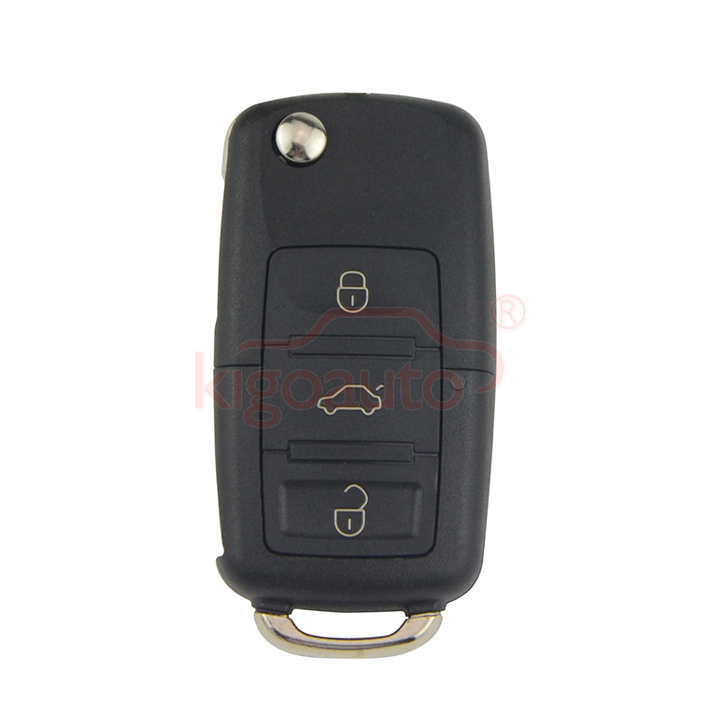 1JO 959 753 N flip key HU66 3 button 434Mhz Remote key for VW Passat Golf Bora Jetta 2000 1JO959753N title=
