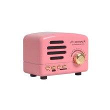Retro Literária Wireless Mini Bluetooth Speaker Portátil de Música Sistema de Som Surround de Alta Fidelidade Do Bluetooth Subwoofer Falante FM Rádio