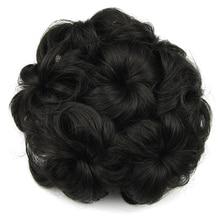 Soowee 8 Цветов Синтетический Высокая Температура Волокна Вьющиеся Волосы Цветок Резинкой Для Волос Bun Donut Ролика Шиньоны Chignon