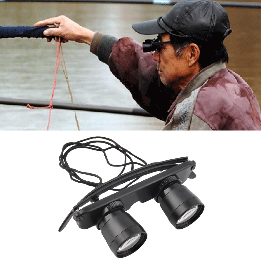 3x28 Magnifier Glasses Style Outdoor Fishing Optics Binoculars Telescope free shipping