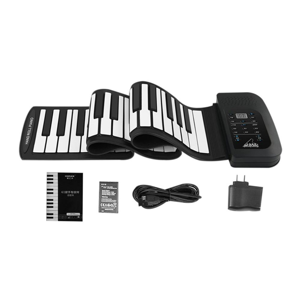 61 Key Roll Up Piano Electronic Training Tool Professional Musical Instrument US PLUG Standard flanger professional pianist orthotics piano trainers