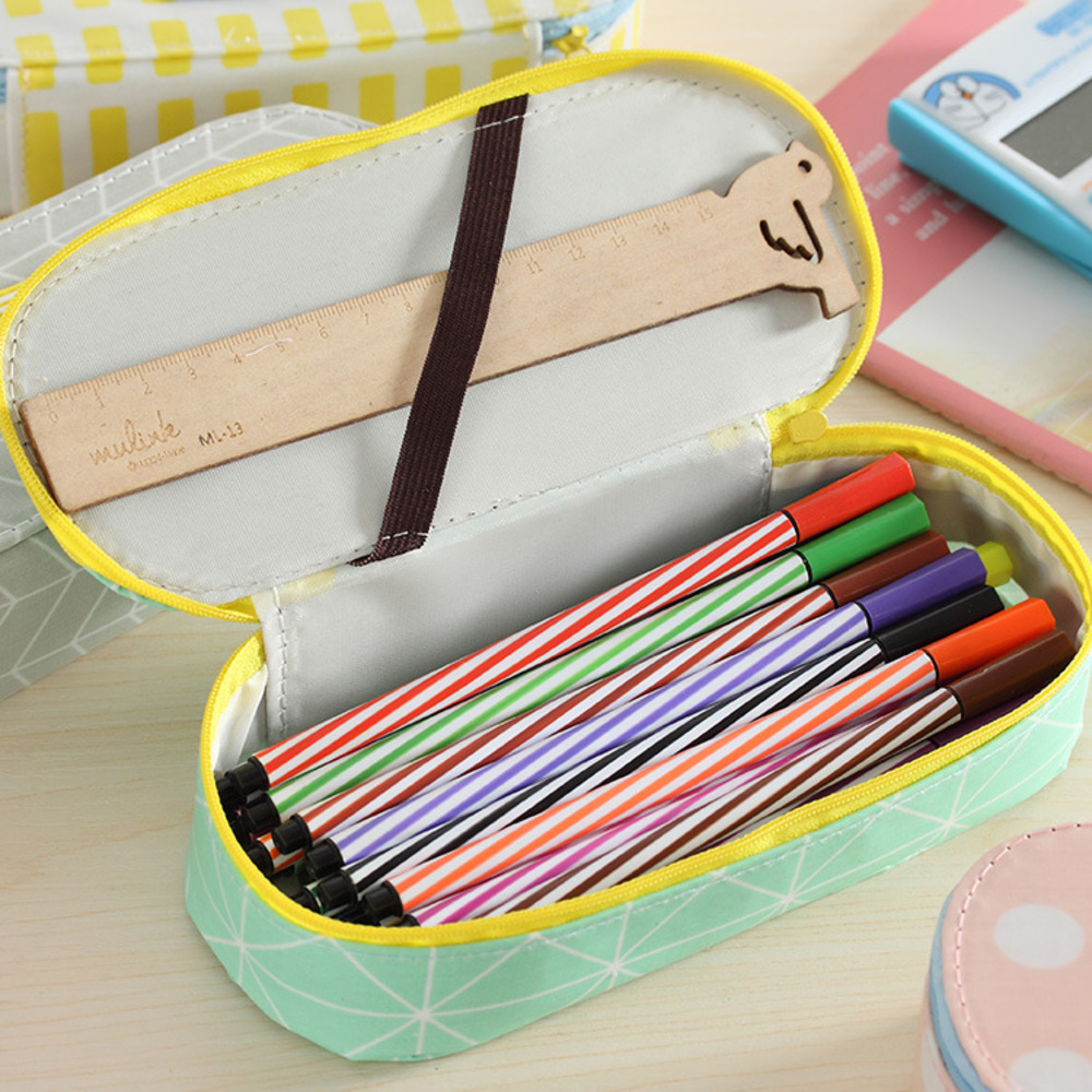 Originality Concise Capacity Pen Jane Life Men And Women Student Canvas Art  Pencil Case Study Stationery Bag School Supplies  In Pencil Cases From  Office ...