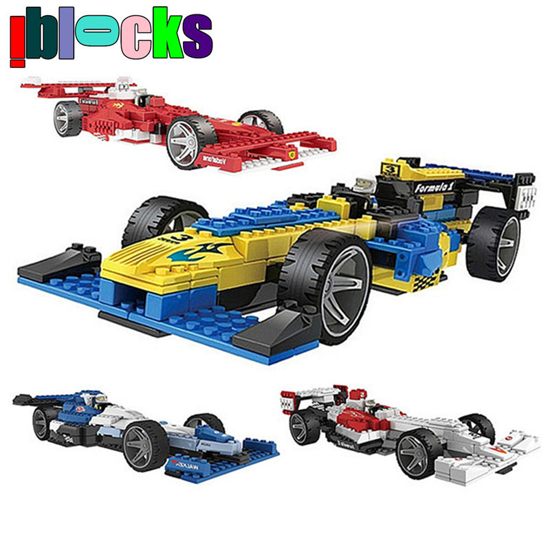 Formula One Racing Models & Building Toy F1 Cars Model Assembly Blocks Vehicle Toys For Children Boys