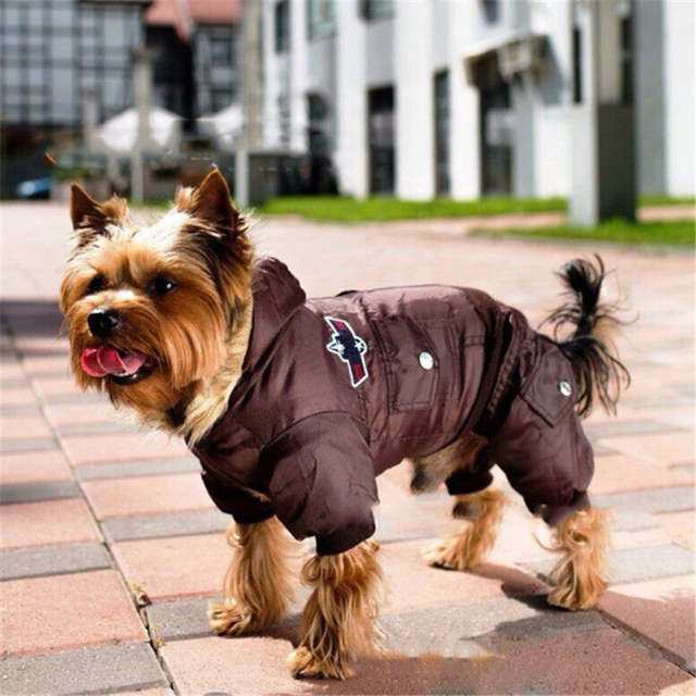 USA AIR FORCE Waterproof Puppy Clothes Dogs Kitten Puppy Thick Animal  Hoodies Coats Dog Pet Warm Winter Coat Jacket