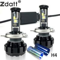 Zdatt 1Pair Super Bright H4 Led Bulb 12000LM Headlight Canbus H7 H8 H9 H11 9005 HB3