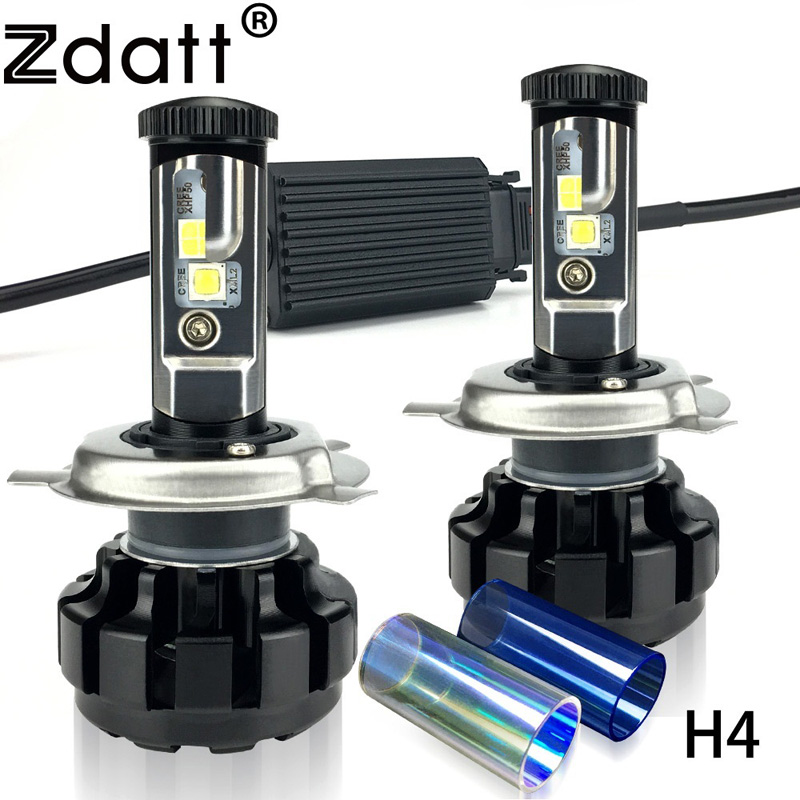 Zdatt 1Pair Super Bright H4 Led Bulb 12000LM Headlight Canbus H7 H8 H9 H11 9005 HB3 Car Led Light 12V Fog Lamp Automobiles Kit 9005 blue film super bright car halogen bulb for headlight with high quality drop shipping
