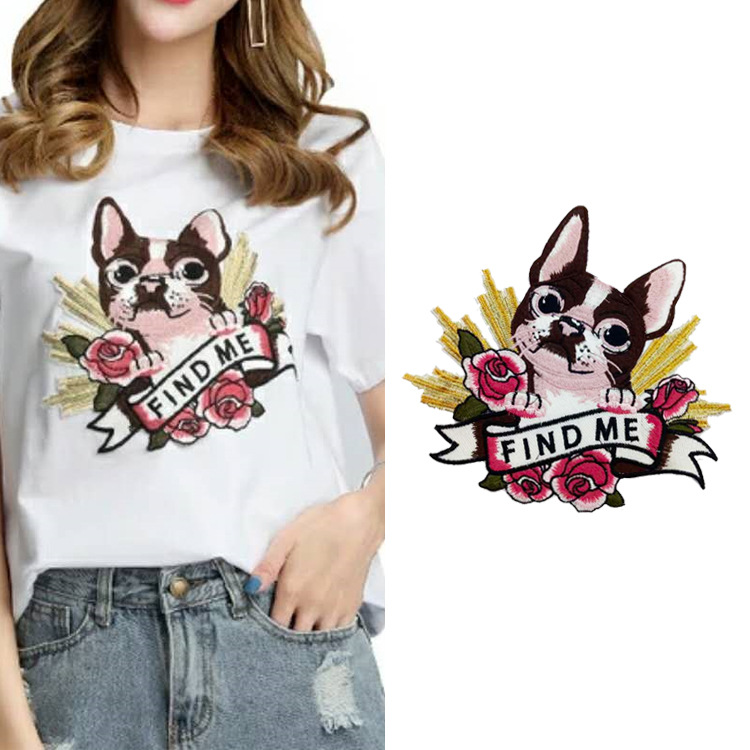 Clothing Accessories Explosive Embroidery Applique Animal Pattern Cute Fashion Dog Lace Trend