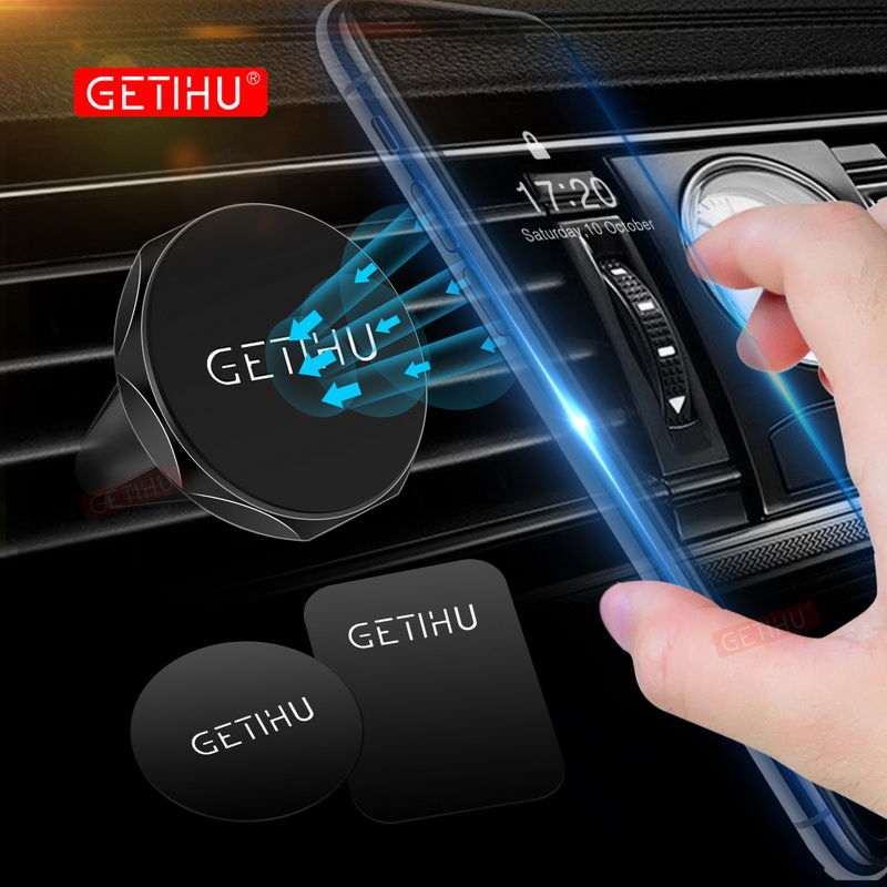 GETIHU Universal Magnetic Car Holder Mini Air Vent Mount Magnet Phone Mobile Holder For iPhone ipad GPS Stand Support Samsung getihu gravity car holder for phone in car air vent clip mount no magnetic mobile phone holder cell stand support for iphone x 7