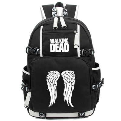 Hot The Walking Dead Backpack Cosplay Fashion Daryl Luminous Canvas Bag Schoolbag Travel Bags все цены