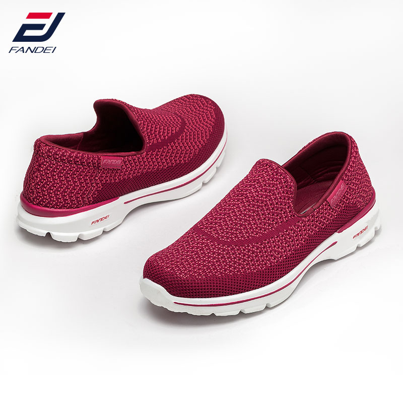 FANDEI 2017 breathable mesh running shoes for women and men sneakers women comfortable slip on sport shoes women cushioning