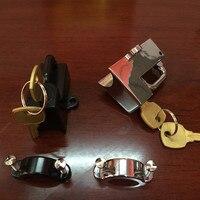 Sansour KURYAKYN MOTORCYCLE HELMET LOCK for HARLEY CHROME BLACK 7/8 TO 1 TUBE 4220 4234