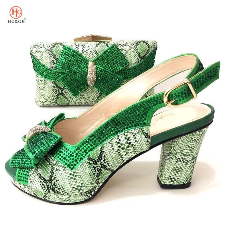 Rosa Zapato Nuevo rojo Juego Mujeres verde En A Bolsos oro Y De Con 2018 Nigeria Italiano rosado Zapatos Las plata Color Conjunto Bolsa Negro Aaw8qdE