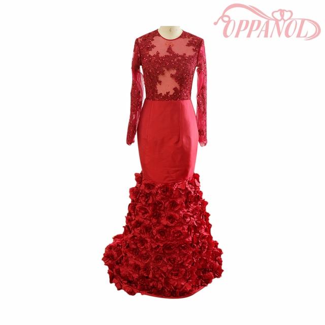 Vestidos de fiesta de rosas rojas