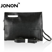 JONON JONON Men's Leather Bag Handbag Clutch  Designer Handbags Bolso Messenger Bags Black Totes Briefcase Office Work