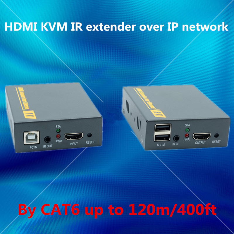 Network EDID + USB + IR + HDMI Extender 120m Via Ethernet RJ45 Cat5e/6 Cable 1080P HDMI Keyboard Mouse KVM Extender Over TCP IP mirabox usb hdmi kvm extender up to 80m over cat5 cat5e cat6 cat6e lan rj45 single cable lossless non delay with mouse control