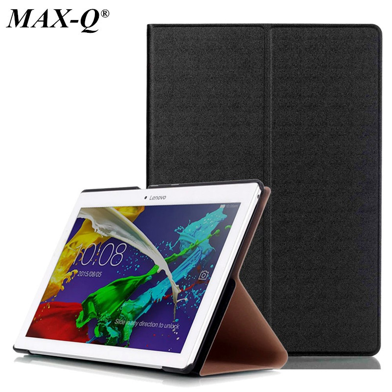 MAX-Q pu Leather cover case funda for lenovo tab 2 a10-70 10.1 tablet for tab 2 a10-30 X30F PU leather case+stylus pen tab2 a10 30 lichee pattern pu leather case for lenovo tab 2 x30 x30f x30m a10 30 flip tablet cover protector stylus
