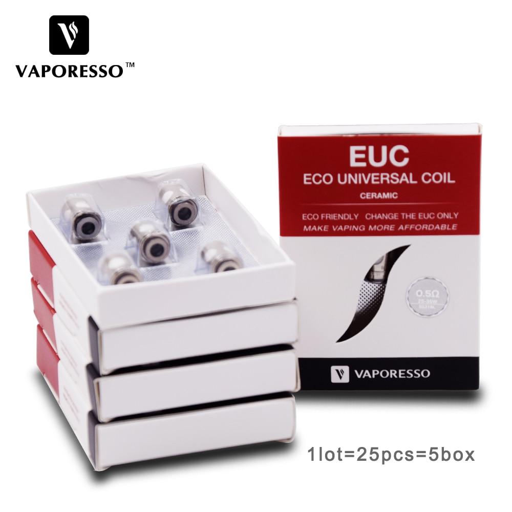 25pcs Vaporesso SS316L 0 3ohm 0 5ohm Coil Ceramic EUC Coil E Cigarette Coil fit Tarot