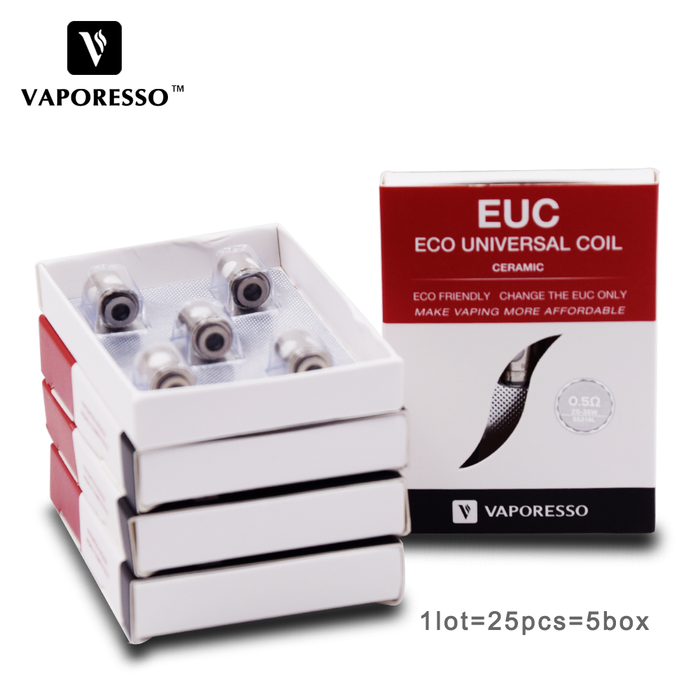 25 stks Vaporesso SS316L 0.3ohm 0.5ohm 0.6ohm Coil Keramische EUC - Elektronische sigaretten