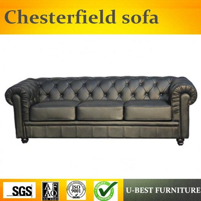 U BEST style européen en cuir canapé bois massif antique grande famille  villa canapé, américain salon meubles 123 combinaison