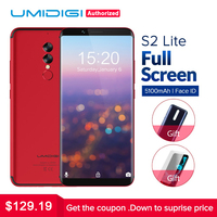 UMIDIGI S2 Lite 18 9 Full Screen Smartphone 5100mAh 4GB 32GB 16MP 5MP Dual Camera Face