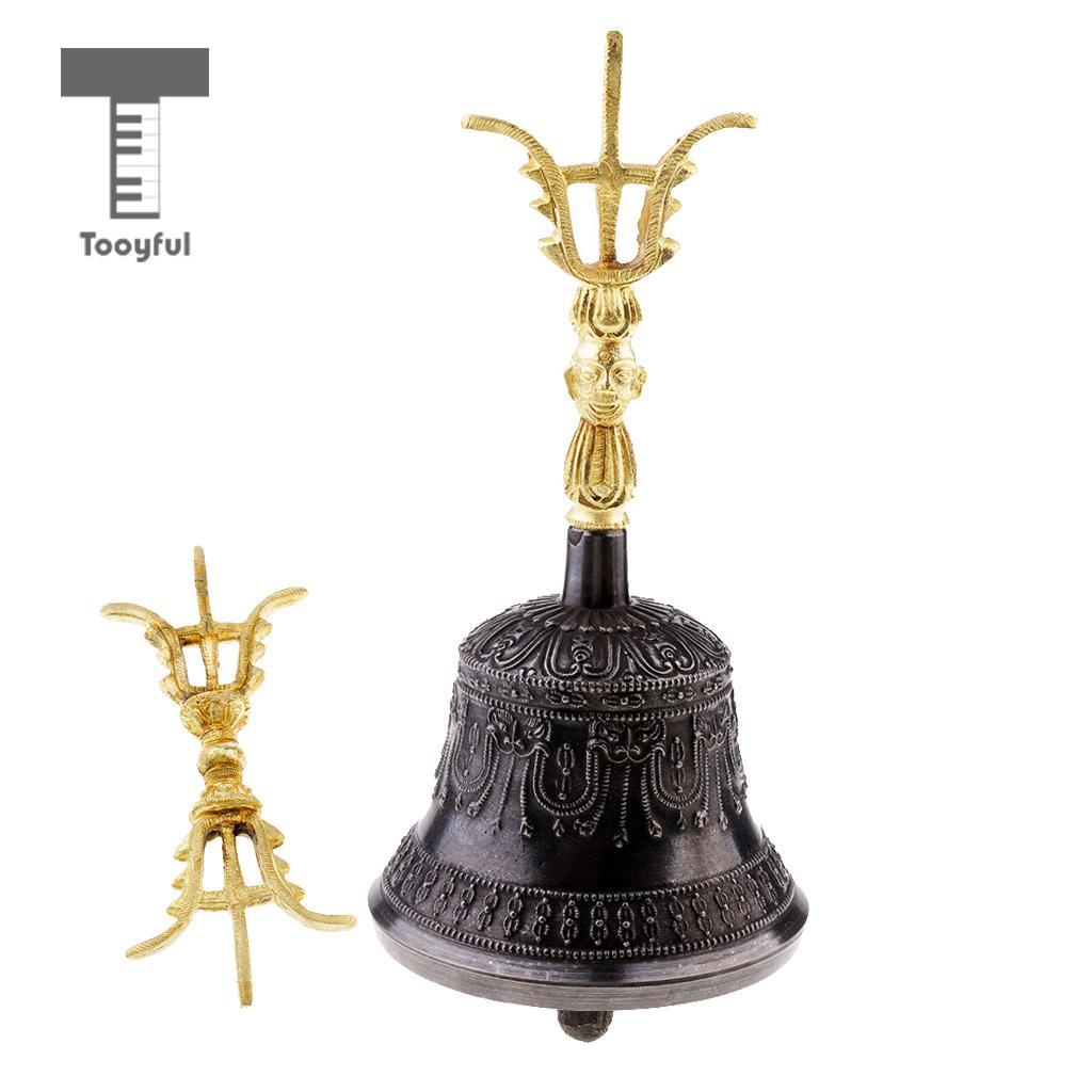 Tibetan Buddhist Handcrafted Bell Brass for Yoga Mediation Crafts 20x9.5cm