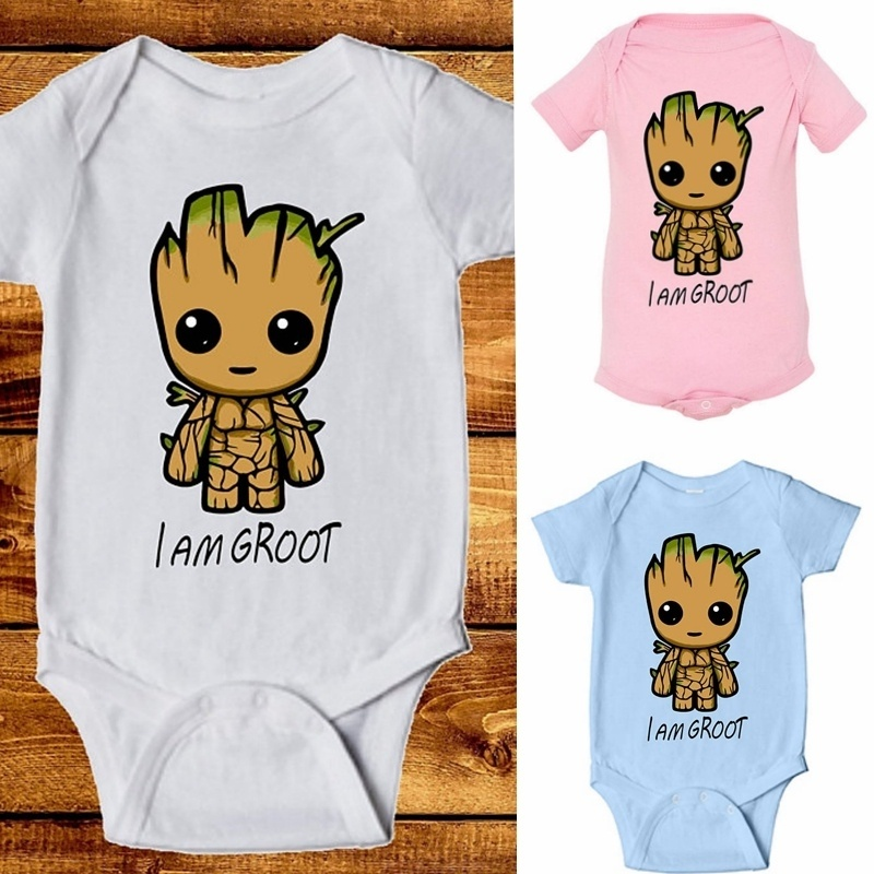 DERMSPE 2019 New Infant Newborn Baby Boy Girl Fashion Short Sleeve Letter Print Romper Outfits Summer Baby Clothes Hot