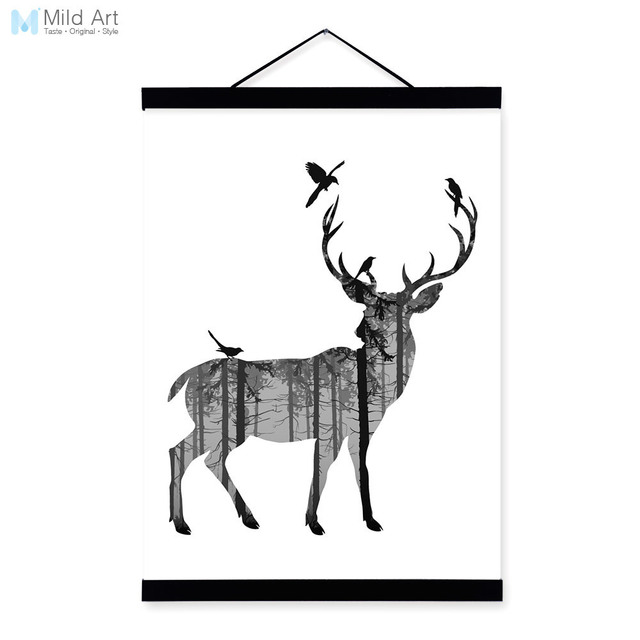 Aliexpress Buy Deer Black White Nordic Minimalist Animal
