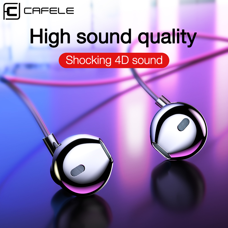 CAFELE Wired In-Ear Sport Earphones with Type C 3.5mm Heavy Bass Sound Earphone for Xiaomi Samsung Huawei Phone Computer Headset