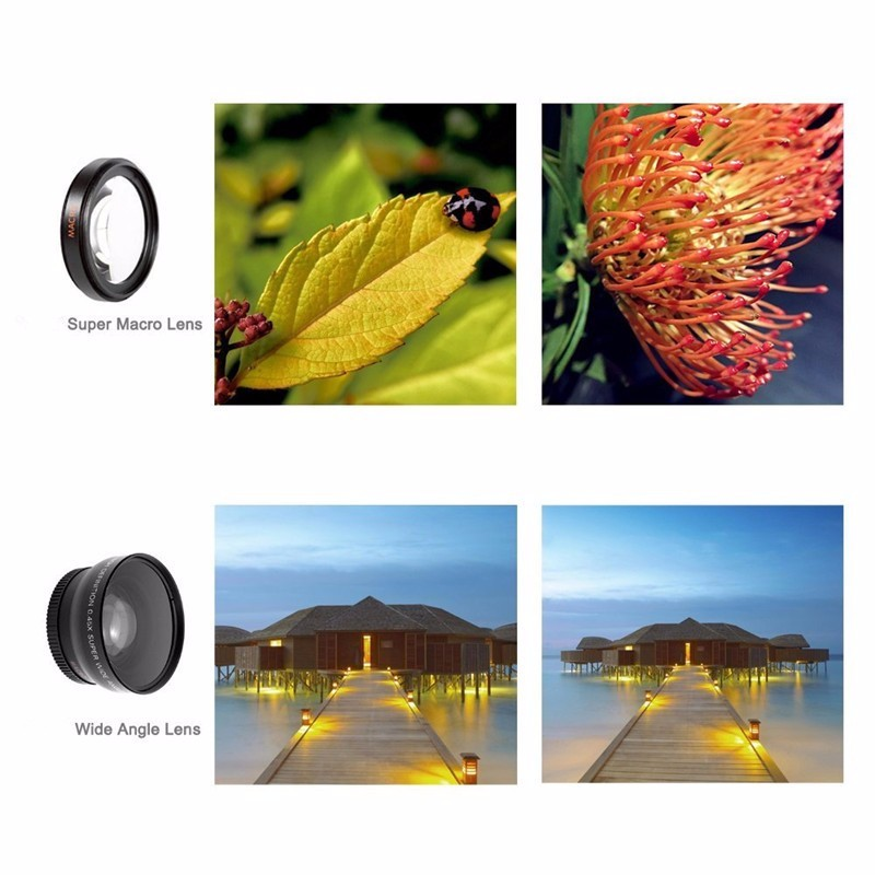 Fisheye Lens 3 in 1 mobile phone clip lenses fish eye wide angle macro camera lens for iphone 6s plus 5s/5 xiaomi huawei lenovo 5