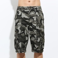 Free Army Fashion 2015 Men Shorts Masculino Camouflage Military Shorts Cotton Loose Mens Gym Running Sports