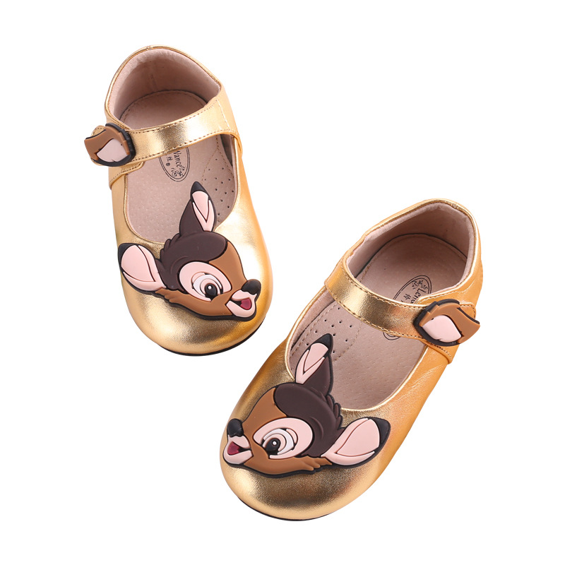 2019 Cartoon Micky Girls Children Leather Single Shoes For Toddlers Kids Princess Shoe Bambi Kid's Footwear Bambi Shoes