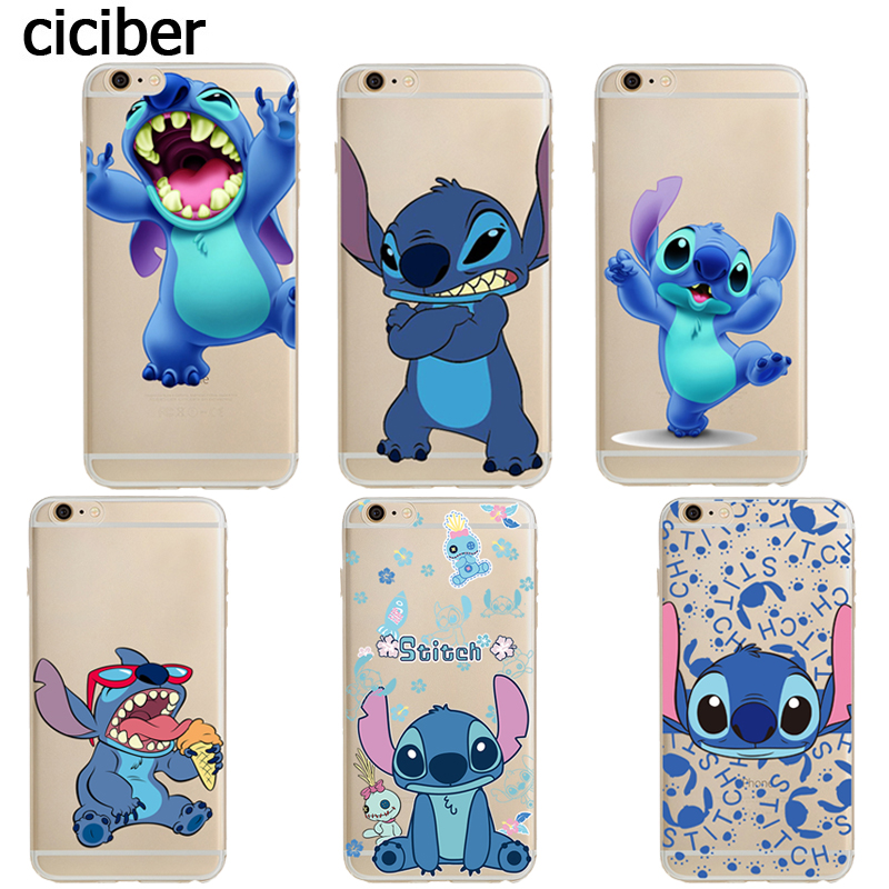stitch phone case iphone 5s phone stitch capa for iphone 7 6s 7987