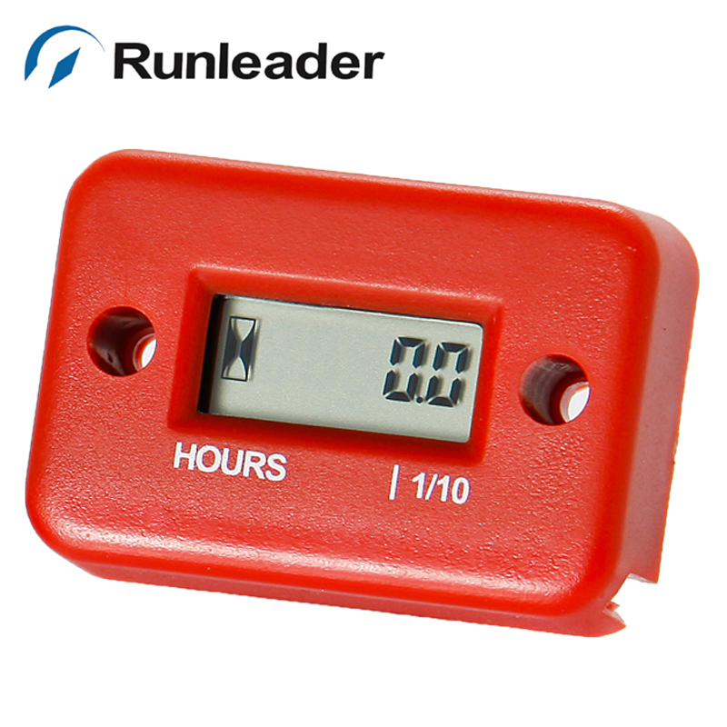Runleader LCD Inductive digital Hour Meter for jet ski Motorcycle Snowmobile Marine ATV tractor pit bike lawn mower outboard