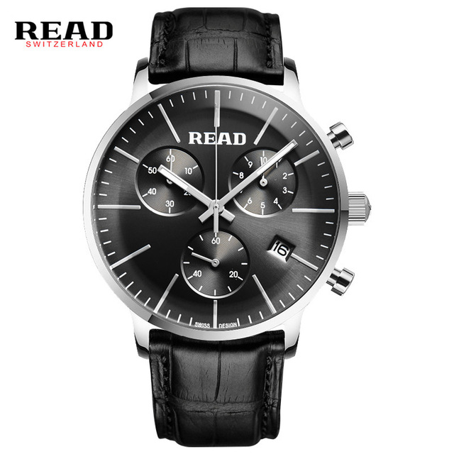 ФОТО READ WATCH Multi-functional sports men's watch fashion belt watch quartz watch R7080