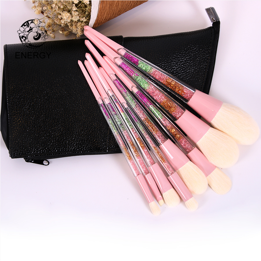 ENERGY Märke 8stk Rainbow Makeup Brush Set Professionella Make Up Brushes Färgglatt Handtag Brochas Maquillaje Pinceaux Maquillage