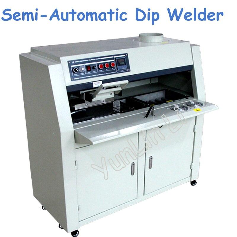 220V Semi-Automatic Dip Welder Lead-Free Flux Spray PCB Circuit Board Dip Tin Furnace ZB3525DG