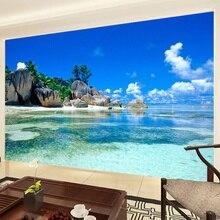 3D Mural Wallpaper Non-woven Ocean Sea Beach