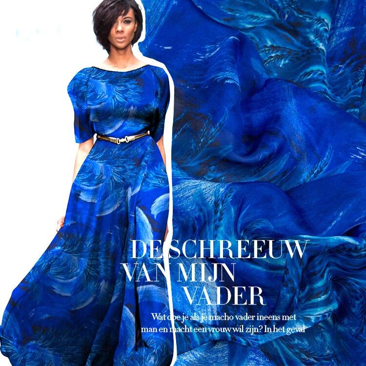 Großhandel 2018 Neue verband Mode Feder Set blau Rüschen boot-ausschnitt promi Zweiteiler Cocktail party kleid /(H2292/)