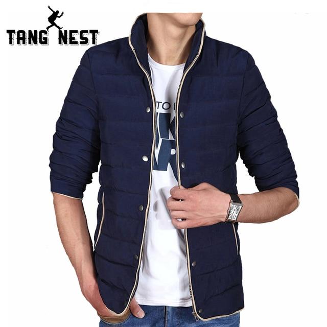 TANGNEST 2017 Winter Thick Parka Men Fashion Warm Comfortable Men Jacket Size L-4XL 4 Colors Casual Popular Jacket Men MWM1404