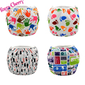 Happy Cherry Printed TPU Swim Diaper Washable Baby Unisex Cloth Diaper Leakproof Reusable Adjustable Among 3 size