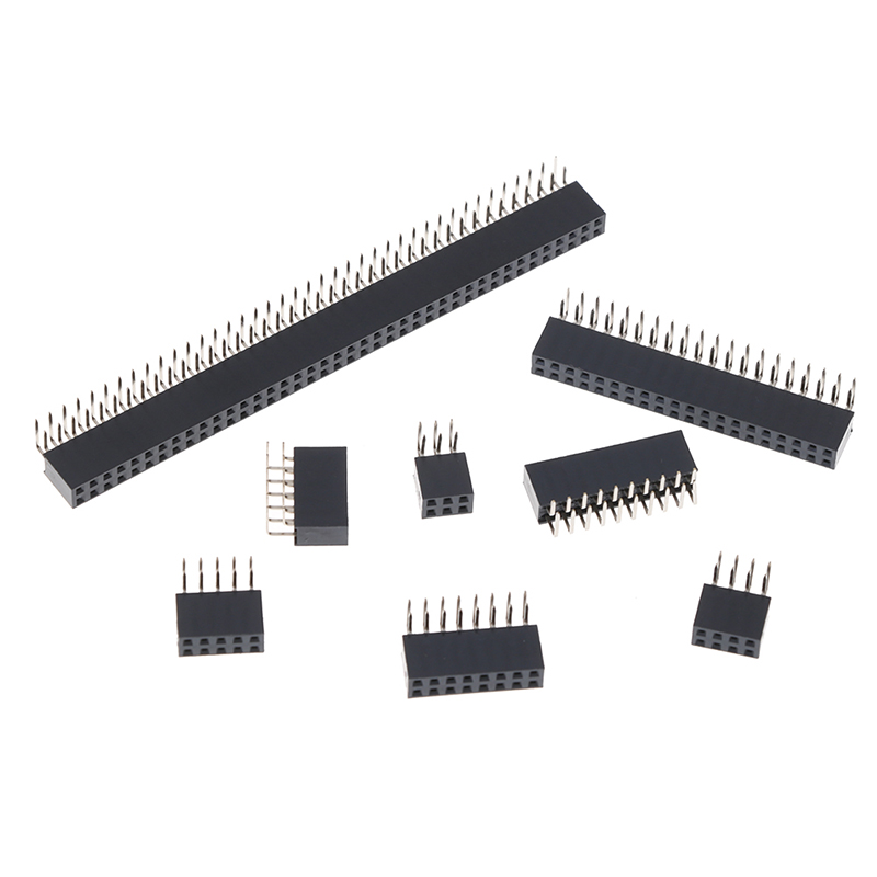 2.54mm Double Row <font><b>Female</b></font> PCB Board Right <font><b>angle</b></font> <font><b>Pin</b></font> <font><b>Header</b></font> socket Connector Pinheader 2*3/4/5/6/8/10/20/40Pin For Arduino image