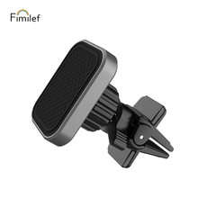 Fimilef Magnetic Car Phone Holder For in  Square Air Vent Mount Stand Magnet Mobile Iphone X 8 7 Samsung S9