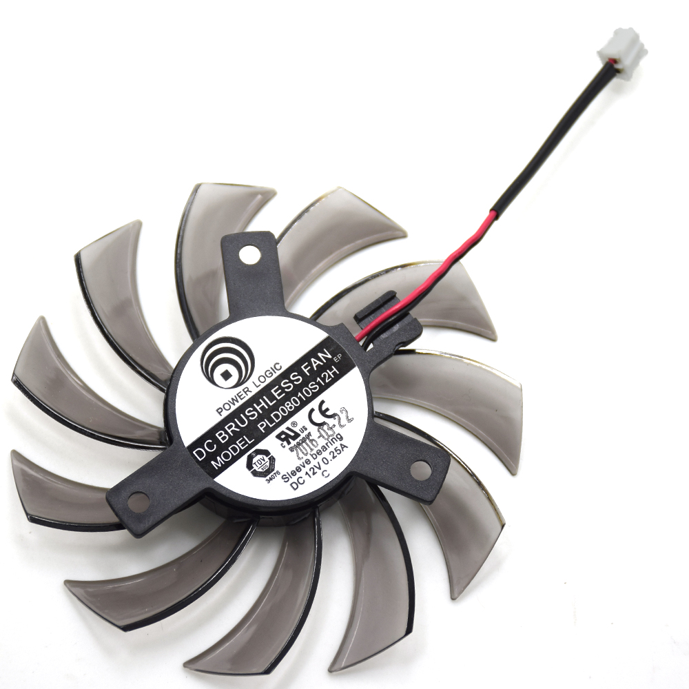 Nueva 75mm PLD08010S12H ventilador enfriador para Gigabyte HD 6850 7970 GTX 460 GTX560Ti R270X AMD R7 260x gráfica tarjeta ventiladores de refrigeración