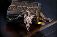 Retro Jewelry COOL LOTR 18Kt White Gold filled Arwen Evenstar AAA Cubic Zirconia Necklace Pendant mother day gift