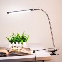 10 W 36 LEDs 10-level Dimmable Eye Protection Регулируемый зажим для зажима света настольная лампа для чтения 3 цвета освещения USB Powered