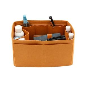 Image 2 - For SPEEDY 25 30 35 Felt Insert Bag Women Insert Organizer  Handbag Organizer with pockets for Cosmetics Makeup Bag Organizers