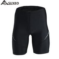 ARSUXEO Comfort Fit Quick Dry Outdoor Sports Shorts Black Elastic Running Sport Shorts Men's Running Shorts Outdoor Clothing