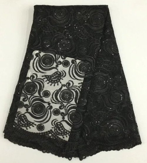 Nigerian Lace Fabrics High Quality Classic Dentelle Tissus Africain French Lace With sequins Embroidery For Dress