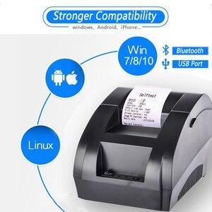 Image 3 - Термопринтер Zjiang, 58 мм, POS, чековый принтер, Bluetooth, USB порт для телефона, Android, iOS, Windows, для супермаркета
